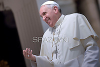 Pope Francis during his weekly general audience in St. Peter square at the Vatican, Wednesday.May 7, 2014.