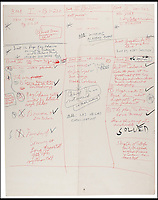 BNPS.co.uk (01202 558833)<br /> Pic: RRAuction/BNPS<br /> <br /> One of six 22&quot;x28&quot; oak tag storyboards outlining the lengthy nine-section novel. <br /> <br /> The secrets behind the production of cinema's greatest Mafia film have been revealed after the unsealing of The Godfather creator's personal vault. <br /> <br /> A never-before-seen archive of scripts, screenplays and storyboards relating to the epic 1972 movie belonged to the late Mario Puzo, who wrote the Godfather as a novel three years earlier.<br /> <br /> The documents contain Puzo's own annotations scrawled on early screenplay drafts for legendary director Francis Ford Coppola to consider, giving a glimpse into birth of some of cinema's most iconic lines and scenes. They are now being sold at auction for &pound;300,000.