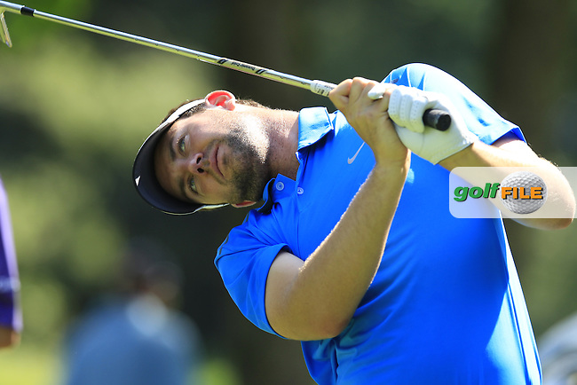 Scott Jamieson (SCO) tees off the par3 17th tee during Thursday's Round 1 of the 2013 BMW International Open held on the Eichenried Golf Club, Munich, Germany. 20th June 2013<br /> (Picture: Eoin Clarke www.golffile.ie)