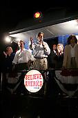 Sedalia, Missouri.USA.August 5, 2004..Sen. John Kerry and Sen. John Edwards accompanied by their wives begin a whistle stop train tour of the USA...