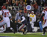 Ole Miss quarterback Jeremiah Masoli (8) runs vs. Louisiana-Lafayette in Oxford, Miss. on Saturday, November 6, 2010. Ole Miss won 43-21.