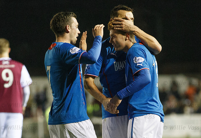 Lewis Macleod takes the acclaim for his goal
