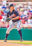 11 March 2013: Atlanta Braves pitcher Aaron Northcraft on the mound during a Spring Training game against the Washington Nationals at Space Coast Stadium in Viera, Florida. The Braves defeated the Nationals 7-2 in Grapefruit League play. Mandatory Credit: Ed Wolfstein Photo *** RAW (NEF) Image File Available ***