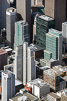 aerial photograph 101 Second Street 140 New Montgomery Street and adjacent skyscrapers San Francisco