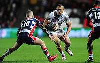 Robbie Fruean of Bath Rugby in possession. European Rugby Challenge Cup match, between Bristol Rugby and Bath Rugby on January 13, 2017 at Ashton Gate Stadium in Bristol, England. Photo by: Patrick Khachfe / Onside Images