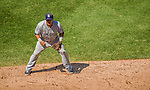 26 April 2014: San Diego Padres shortstop Everth Cabrera in action against the Washington Nationals at Nationals Park in Washington, DC. The Nationals defeated the Padres 4-0 to take the third game of their 4-game series. Mandatory Credit: Ed Wolfstein Photo *** RAW (NEF) Image File Available ***