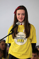 NO FEE PICTURES.8/3/12 Megan Smith, Mother of Devine, Ballygall, taking part in the Dublin County final, part of the overall Eason 2012 Spelling Bee, held at St Olaf's NS, Dundrum. .For further details visit www.easons.com/spellingbee and stay tuned to RTE 2fm. Picture:Arthur Carron/Collins
