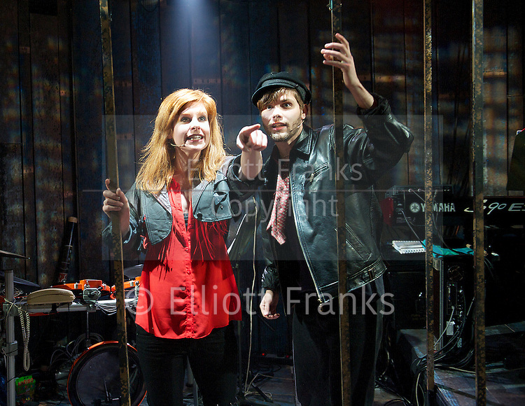 Rooms - A Rock Romance<br /> by Paul Scott Goodman <br /> book by Miriam Gordon <br /> at the Finborough Theatre, London, Great Britain <br /> press photocall<br /> 23rd April 2013 <br /> <br /> Alexis Gerred <br /> Cassidy Janson <br /> <br /> Photograph by Elliott Franks