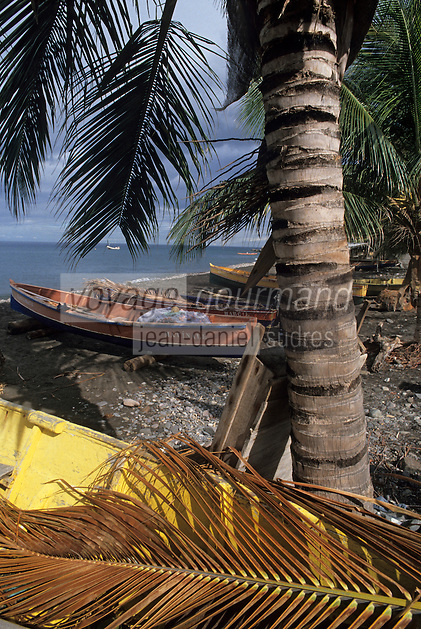 France/DOM/Martinique/Bellefontaine: Détail des barques de pêche