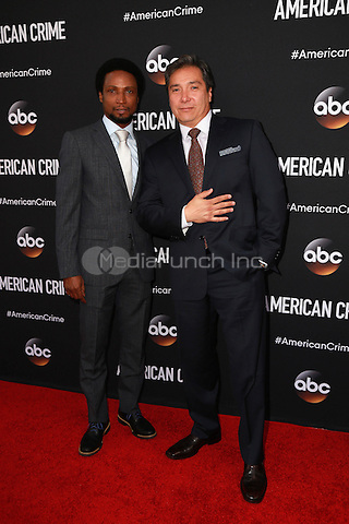 LOS ANGELES, CA - FEBRUARY 28: Elvis Nolasco, Benito Martinez at the American Crime Premiere at the Ace Hotel in Los Angeles, California on February 28, 2015. Credit: David Edwards/DailyCeleb/MediaPunch