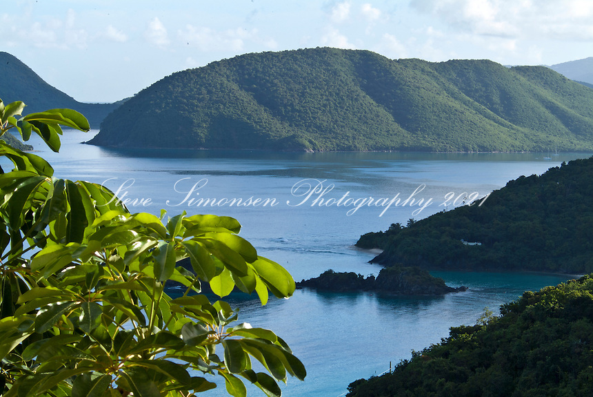 Looking across Trunk Cay towards<br /> Marys Point<br /> Virgin Islands National Park<br /> U.S. Virgin Islands