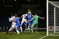 Bolton Wanderers' Mark Beevers scores his sides third goal <br /> <br /> Photographer Rob Newell/CameraSport<br /> <br /> The EFL Sky Bet League One - Gillingham v Bolton Wanderers - Tuesday 14th March 2017 - MEMS Priestfield Stadium - Gillingham<br /> <br /> World Copyright &copy; 2017 CameraSport. All rights reserved. 43 Linden Ave. Countesthorpe. Leicester. England. LE8 5PG - Tel: +44 (0) 116 277 4147 - admin@camerasport.com - www.camerasport.com