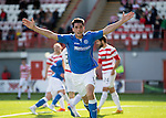 Hamilton Academical St Johnstone....04.04.15<br /> Brian Graham celebrates his goal<br /> Picture by Graeme Hart.<br /> Copyright Perthshire Picture Agency<br /> Tel: 01738 623350  Mobile: 07990 594431