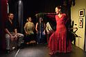 """Edinburgh, UK. 02.08.2016. Alba Flamenca presents the self-titled show, """"Alba Flamenca"""", as part of the Edinburgh Festival Fringe.  Picture shows: Pedro Morote, Maria del Mar Suarez ('La Chachi'), Inma Montero, Gabriela Pouso. Photograph © Jane Hobson."""