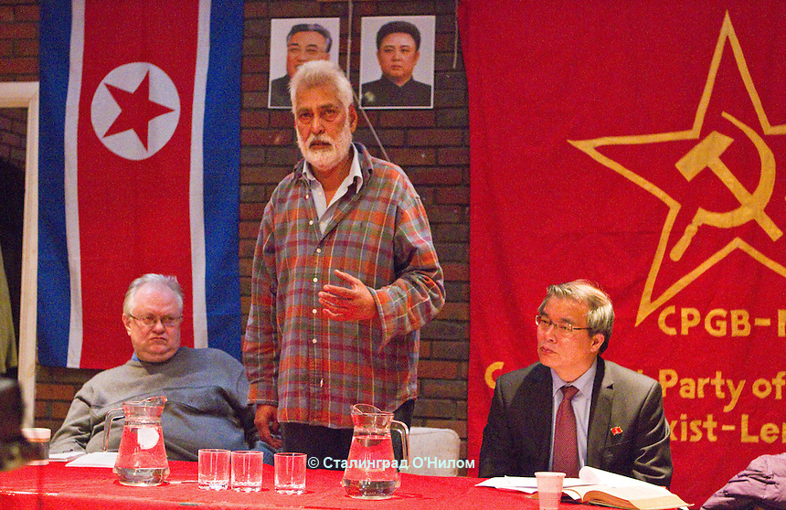 Kim Il-sung Commemoration-Korea Crisis Apr 2013 Southall