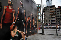 Photographs from malls and street scenes in Guangzhou.