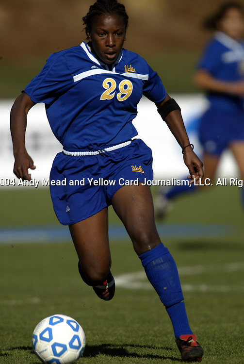 05 December 2004: Crystal James in the first half. Notre Dame defeated UCLA 4-3 on penalty kicks after the game ended in a 1-1 overtime tie at SAS Stadium in Cary, NC in the championship match in the 2004 NCAA Division I Women's College Cup...