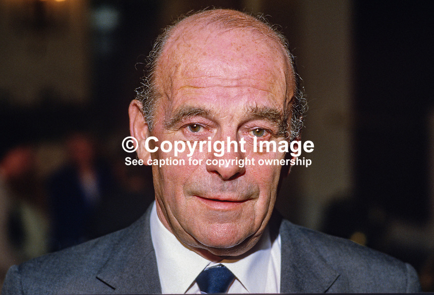 Sir John Swinson, chairman, N Ireland Tourist Board, 19850027JS..Copyright Image from Victor Patterson, 54 Dorchester Park, Belfast, UK, BT9 6RJ..Tel: +44 28 9066 1296.Mob: +44 7802 353836.Voicemail +44 20 8816 7153.Skype: victorpattersonbelfast.Email: victorpatterson@mac.com.Email: victorpatterson@ireland.com (back-up)..IMPORTANT: If you wish to use this image or any other of my images please go to www.victorpatterson.com and click on the Terms & Conditions. Then contact me by email or phone with the reference number(s) of the image(s) concerned.