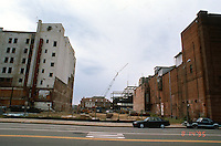 1995 August 18..Redevelopment.Tidewater Community College..TCC PROGRESS & DRAWINGS - DURING..PV8.LOOKING WEST FROM MONTICELLO AT NEW CUT THRU...NEG#.NRHA#..