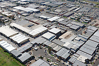 Aerial view of industrial factory area. Victoria, Australia.<br />