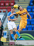 St Johnstone U20 v Motherwell U20&hellip;03.10.16.. McDiarmid Park   SPFL Development League<br />Jason Kerr and Dylan Mackin<br />Picture by Graeme Hart.<br />Copyright Perthshire Picture Agency<br />Tel: 01738 623350  Mobile: 07990 594431