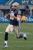 Pitt quarterback Chad Voytik. The Georgia Tech Yellow Jackets defeated the Pitt Panthers 56-28 at Heinz Field, Pittsburgh Pennsylvania on October 25, 2014.
