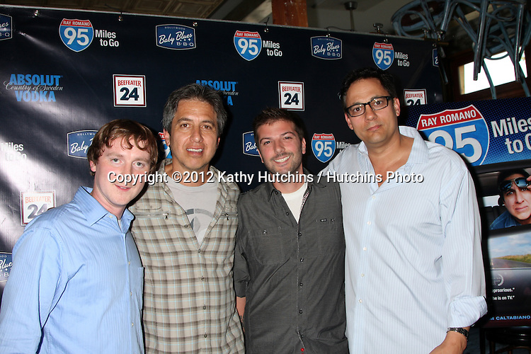 LOS ANGELES - MAY 31:  Ray Romano, Tom Caltabiano, Guests celebrating the DVD release of &quot;95 Miles to Go&quot; at Baby Blues BBQ Resturant on May 31, 2012 in Hollywood, CA