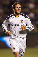 LA Galaxy midfielder David Beckham (23) moves with the ball. The LA Galaxy and Red Bulls of New York played to a 1-1 tie at Home Depot Center stadium in Carson, California on  May 7, 2011....