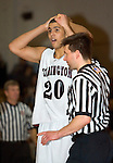 TORRINGTON, CT- 06 JANUARY 2009 --010609JS11-Torrington's Jordan Williams (20) looks on in disbelief as he is called for his fifth foul during their game against Naugatuck Tuesday at Torrington. <br /> Jim Shannon / Republican-American