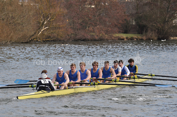 21 IM1.8+ St Edwards Sch..Reading University Boat Club Head of the River 2012. Eights only. 4.6Km downstream on the Thames form Dreadnaught Reach and Pipers Island, Reading. Saturday 25 February 2012.