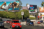 Billboards on the Sunset Strip in Los Angeles