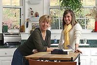 {November 7, 2009} 11:24:00 AM -- Fredericksburg, VA. -- Jody Williams, a Nobel Peace prize winner for her work in eradicating land mines, left, has pulled together a cookbook with recipes from other Nobel laureates and people who have worked for peace. She did the work in combination with her stepdaughter Emily Goose, right, as part of Emily's high school senior project.  ... -- ...Photo by Andrew B. Shurtleff, Freelance.