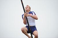 FIERLJEPPEN: IT HEIDENSKIP: 03-06-2013, 1e Klas wedstrijd,Junioren 1e klasse, Hans Ulco de Boer, ©foto Martin de Jong