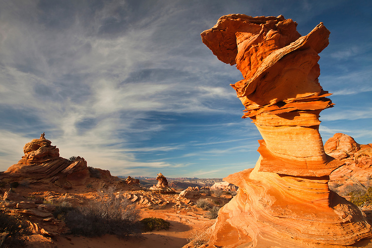 Unusual rock formation in South Coyote Buttes, Arizona