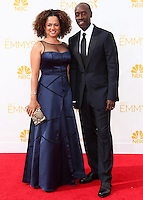 LOS ANGELES, CA, USA - AUGUST 25: Actor Don Cheadle and Bridgid Coulter arrive at the 66th Annual Primetime Emmy Awards held at Nokia Theatre L.A. Live on August 25, 2014 in Los Angeles, California, United States. (Photo by Celebrity Monitor)