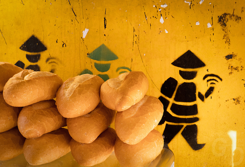 Fresh French Bread rolls on all corners in Hanoi, the capital of Vietnam, is known for its centuries-old architecture and a rich culture with Southeast Asian, Chinese and French influences. At its heart is the chaotic Old Quarter, where the narrow streets are roughly arranged by trade. There are many little temples, including Bach Ma, honoring a legendary horse, plus Đồng Xuân Market, selling household goods and street food.