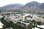 1309-22 0167<br /> <br /> 1309-22 BYU Campus Aerials<br /> <br /> Brigham Young University Campus West looking East, Provo, Sunrise, Y Mountain, Joseph F. Smith Building JFSB, Kimball Tower SKT, Eyring Science Center ESC, Benson Building BSN<br /> <br /> September 6, 2013<br /> <br /> Photo by Jaren Wilkey/BYU<br /> <br /> &copy; BYU PHOTO 2013<br /> All Rights Reserved<br /> photo@byu.edu  (801)422-7322