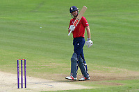 Alastair Cook of Essex celebrates scoring a half-century, 50 runs during Kent Spitfires vs Essex Eagles, Royal London One-Day Cup Cricket at the St Lawrence Ground on 17th May 2017