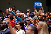 President Barack Obama addresses an empassioned crowd at a campaign fundraiser at the Henry B Gonzalez Convention Center in San Antonio, Texas. July 17, 2012