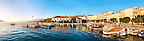 Pag Harbour with fishing boats. Pag  island,  Croatia