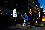 "New York, United States. 17th February 2013 -- Senior United States Senator Charles Ellis ""Chuck"" Schumer (3R) from New York takes part of the Chinese lunar new year of the snake in New York. Photo by Eduardo Munoz Alvarez / VIEWpress."