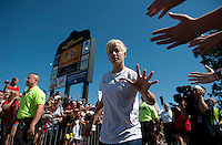 USWNT Fans, Megan Rapinoe.  The USWNT defeated Costa Rica, 8-0, during a friendly match at Sahlen's Stadium in Rochester, NY.