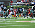 Ole Miss running back Jeff Scott (3) vs. Auburn at Vaught-Hemingway Stadium in Oxford, Miss. on Saturday, October 13, 2012.