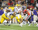 LSU quarterback Jarrett Lee (12) vs. Ole Miss at Vaught-Hemingway Stadium in Oxford, Miss. on Saturday, November 19, 2011..