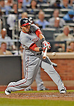24 July 2012: Washington Nationals outfielder Michael Morse in action against the New York Mets at Citi Field in Flushing, NY. The Nationals defeated the Mets 5-2 to take the second game of their 3-game series. Mandatory Credit: Ed Wolfstein Photo