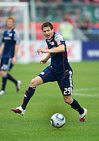 22 May 2010: New England Revolution midfielder Marco Perovic #29 in action during a game between the New England Revolution and Toronto FC at BMO Field in Toronto..Toronto FC won 1-0.....