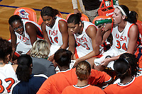 SAN ANTONIO, TX - NOVEMBER 26, 2011: The University of Detroit Mercy Titans vs. The University of Texas at San Antonio Roadrunners Women's Basketball at the UTSA Convocation Center. (Photo by Jeff Huehn)