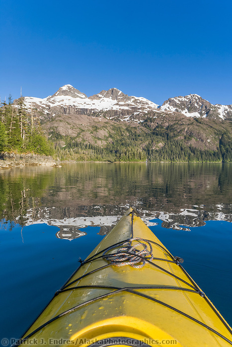 Sea kayaking, Copper Bay, Knight Island, Prince William Sound, Alaska