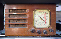 An antique Westinghouse brand am/ shortwave radio receiver in New York on Friday, February 20, 2015. (© Richard B. Levine)