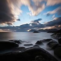 Rocky coastline, Lofoten islands, Norway